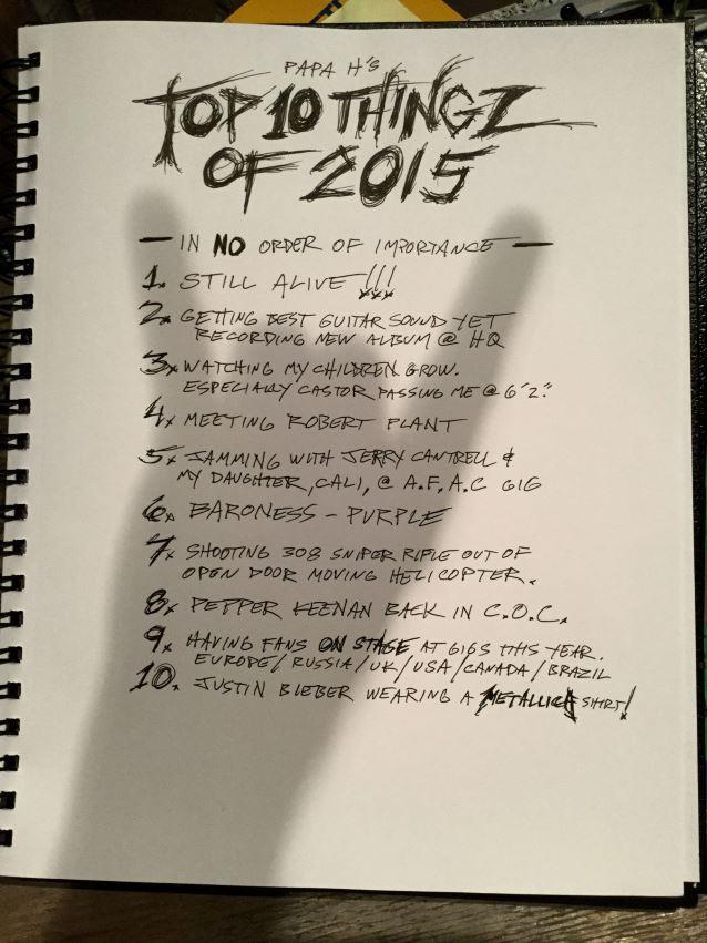 Top Thingz Of 2015 James Hetfield