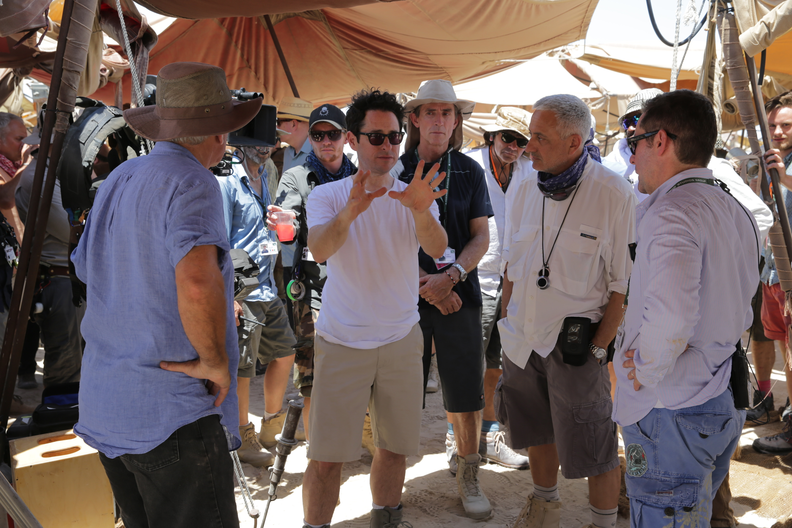 Star Wars: The Force Awakens Director J.J. Abrams on set Ph: David James © 2015 Lucasfilm Ltd. & TM. All Right Reserved..