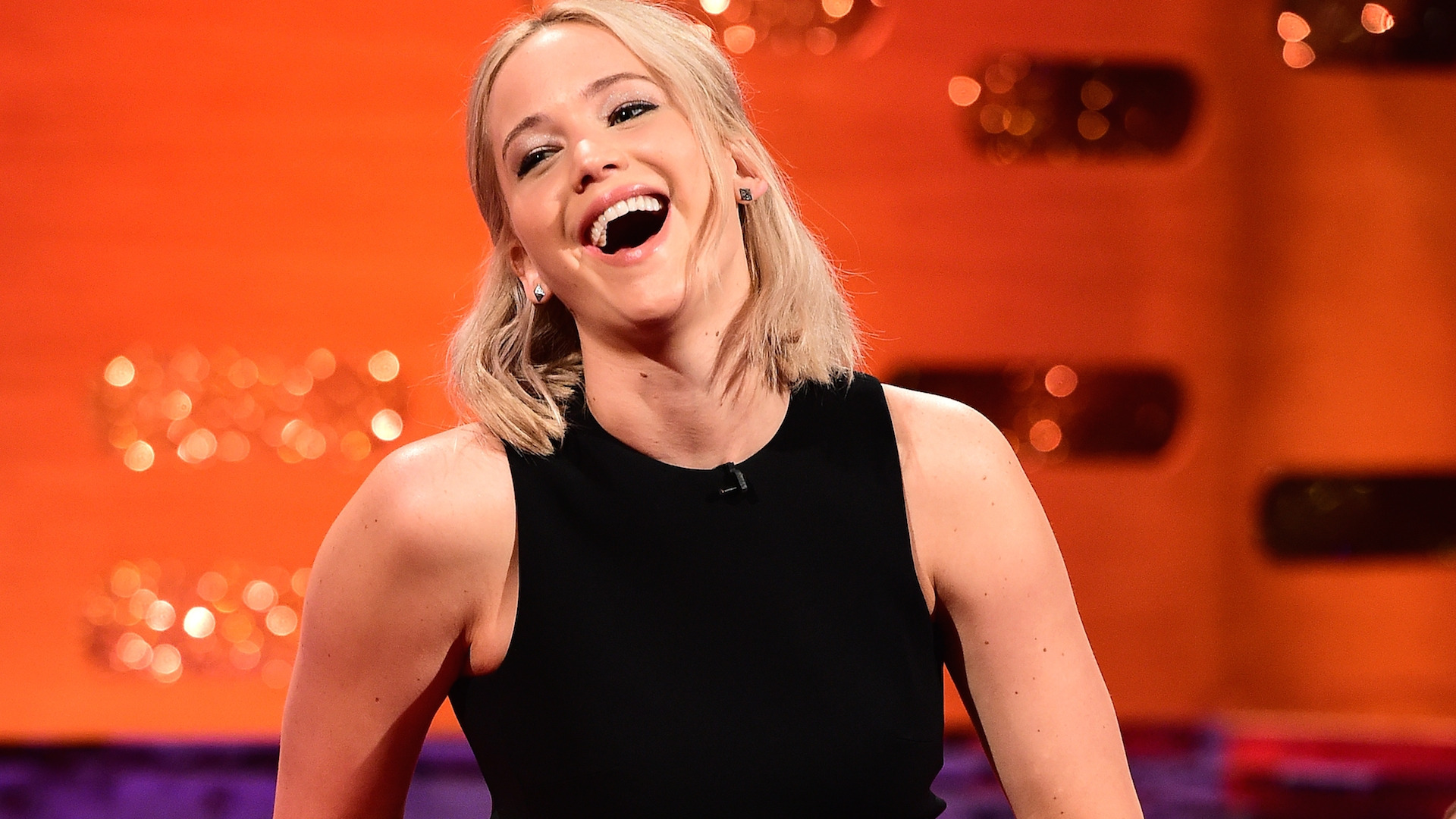 The Graham Norton Show - London. Jennifer Lawrence during filming at the London Studios, London of The Graham Norton Show which is due to be transmitted on December 31 at 2245. Picture date: Thursday December 17 2015. Photo credit should read: PA Images on behalf of So TV. URN:25122688