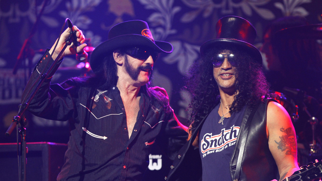 Kilmister and Slash perform at the 2nd annual Golden Gods awards in Los Angeles