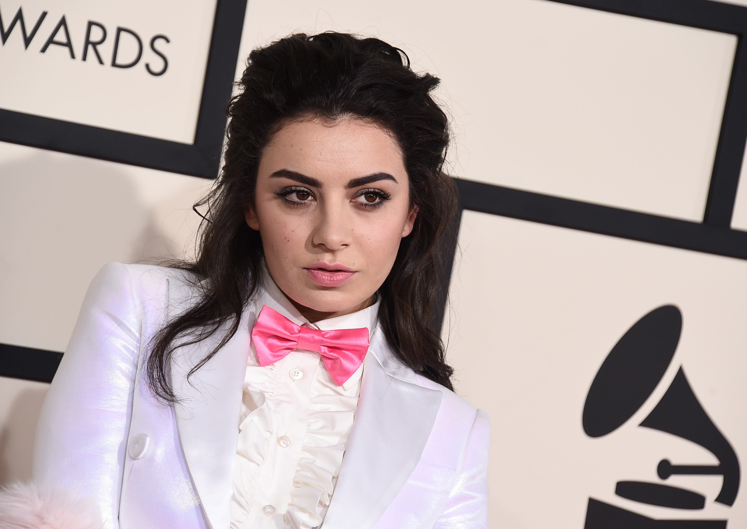 Charli XCX arrives at the 57th annual Grammy Awards at the Staples Center on Sunday, Feb. 8, 2015, in Los Angeles. (Photo by Jordan Strauss/Invision/AP)