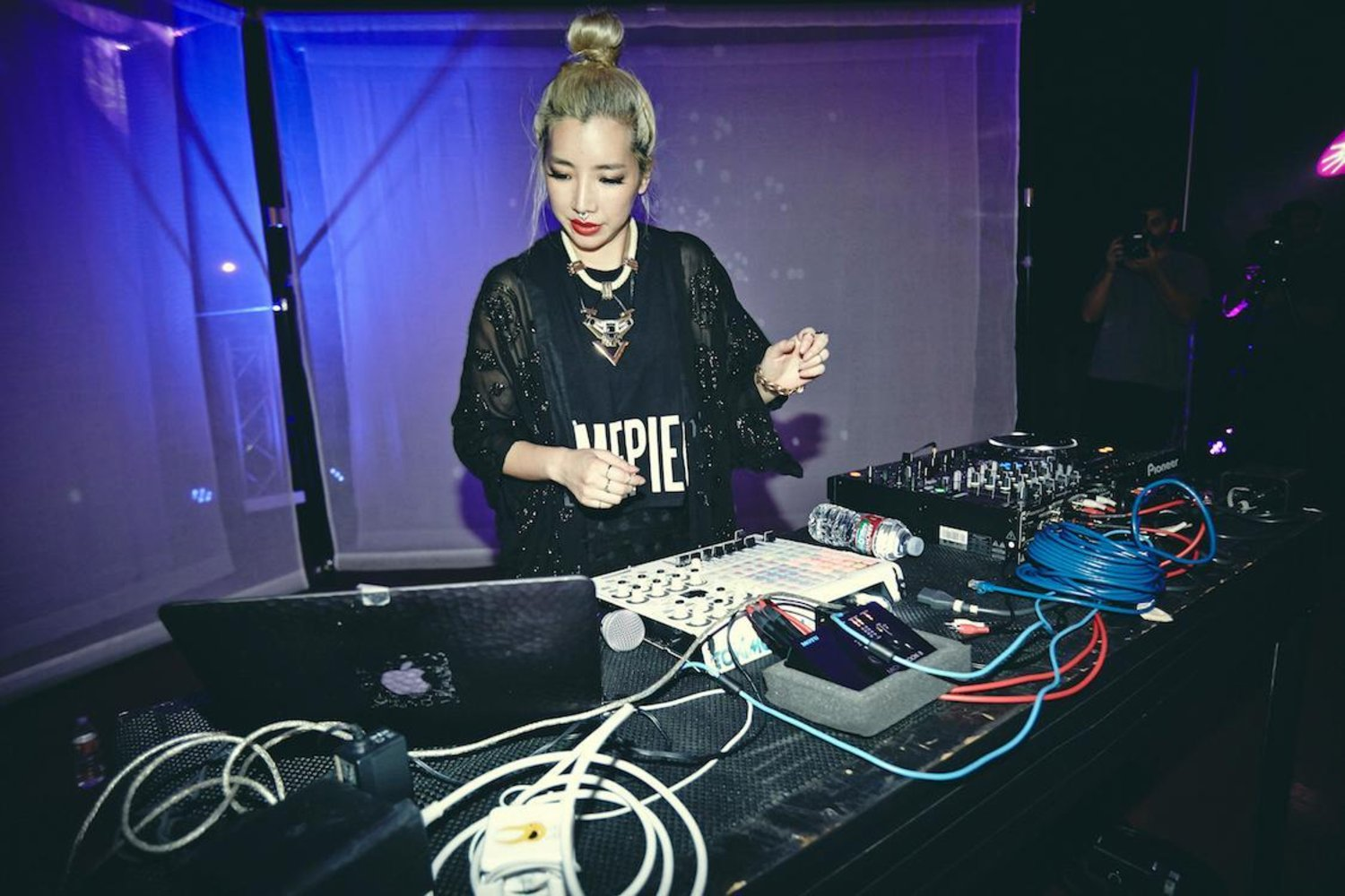 Tokimonsta performs at Red Bull Studios in Los Angeles, CA, USA on 17 September 2014.