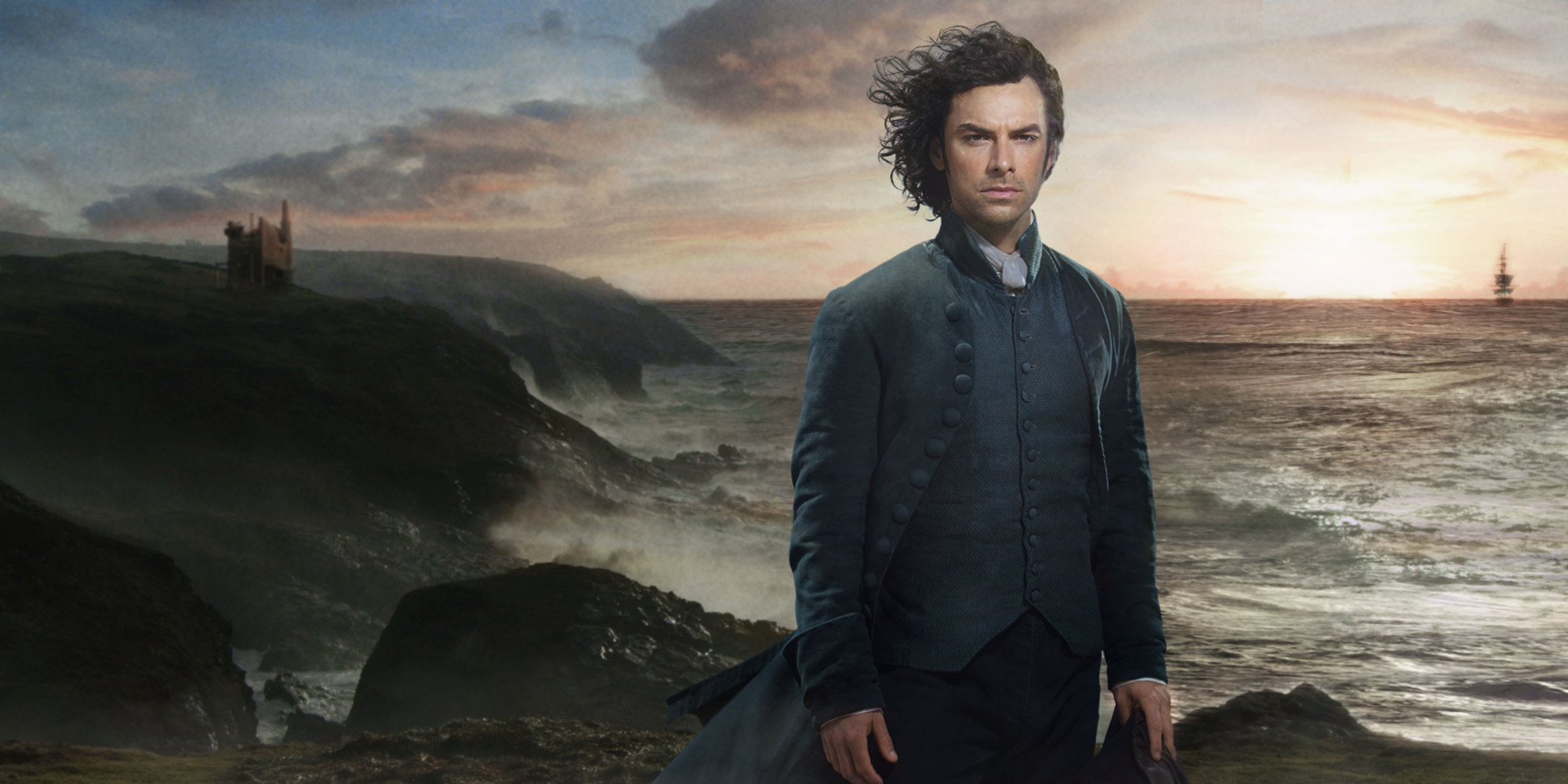 WARNING: Embargoed for publication until 15/02/2015 - Programme Name: Poldark - TX: n/a - Episode: n/a (No. n/a) - Picture Shows: +++PUBLICATION OF THIS IMAGE IS STRICTLY EMBARGOED UNTIL 1135 SUNDAY FEBRUARY 15TH 2015+++ Ross Poldark (AIDEN TURNER) - (C) Mammoth Screen - Photographer: Mike Hogan